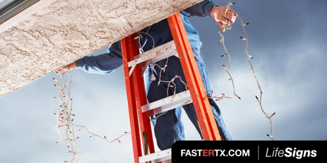 Avoid holiday decorating accidents with simple tips, like choosing the right ladder!